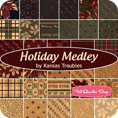 Holiday Medley Layer Cake Kansas Troubles Quilters for Moda Fabrics - Fat Quarter Shop