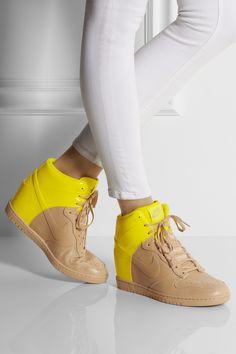 d95998b9a45fbb Nike - Dunk Sky Hi leather wedge sneakers