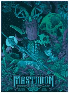 Mastodon Tour Poster - Vance's Posters and Album covers Black Metal, Heavy Metal Art, Black Art, Stoner Rock, Tour Posters, Band Posters, Music Posters, Music Artwork, Cool Artwork