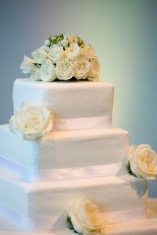 Wedding Cake Flowers - way too structured