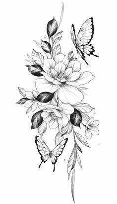 Mini Tattoos, Cute Tattoos, Leg Tattoos, Body Art Tattoos, Small Tattoos, Sleeve Tattoos, Tatoos, Flower Tattoo Drawings, Tattoo Design Drawings