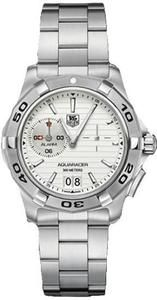 Tag Heuer Men's Stainless Steel Aquaracer Quartz Analog Alarm White Dial that is sure to get you laid. Save 22% off this watch and use the extra money to score with a hot lady friend.