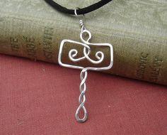 Norse Thor's Hammer Pendant Mjolnir Celtic by nicholasandfelice Thors Hammer, Diy Viking Jewelry, Funky Jewelry, Jewelry Crafts, Sea Glass Jewelry, Bead Jewelry, Jewelry Making, Celtic Tree, Tree Pendant