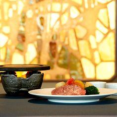 Tochigi Kirifuri Kogen beef filet grilled on Aso lava stone