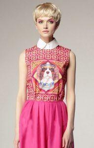 Dog head #pink dress. #fashion