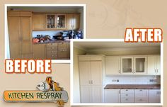 Kitchen Respray to F&B Lime white Kitchen Respray, Restoration, Lime, Kitchen Cabinets, Furniture, Home Decor, Decoration Home, Room Decor, Kitchen Base Cabinets