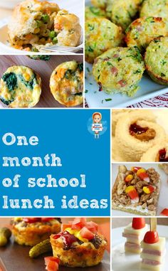 Your kids won't get bored thanks to a whole month's worth of school lunch ideas! These are helpful for homeschooling moms, too! Love these kid friendly recipe ideas!