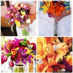 Tropical bridal bouquets