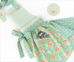 Celebrate the sweetness of summer with this lovely sweeping skirt apron. A nine-part pattern is offered below to create the beautiful bottom curve, the angled bodice, and the cute pockets. For our spe