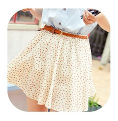 Summer skirt and belt #outfit #clothes #girly #shopping #skirt #skirts #pretty #fashion #shirts #shirt #lovely #gorgeous