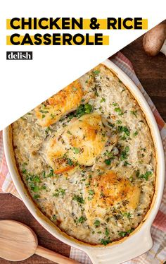 This Easy Chicken & Rice Casserole Is Pure ComfortDelish