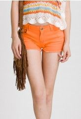 Neon Shorts in Orange