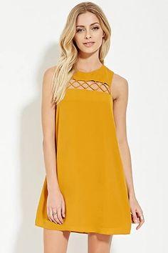 Contemporary Mini Shift Dress   LOVE21 #f21contemporary