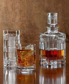 "Ralph Lauren ""Glen Plaid"" Barware. I need the decanter to go with my glasses. Hint! Hint!"