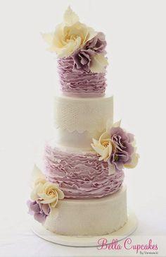 Lace Wedding Cakes #laceweddingcakes
