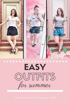 These easy summer outfits are comfortable, cute, and ready to wear out and about or just at home. These summer outfits are also inexpensive! Camo Top, Simple Summer Outfits, Great Cuts, Beauty Trends, Beauty Tips, Shorts With Tights, White Tees, Makeup Junkie, Women Empowerment