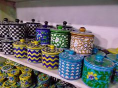Blue pottery from Jaipur India