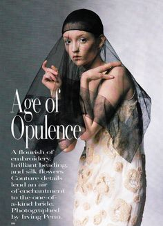 Vogue Editorial June 1998 - Audrey Marnay by Irving Penn