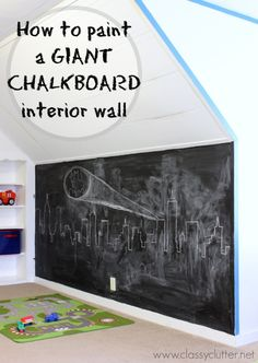 How to paint a giant chalkboard wall