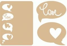 Silhouette Online Store: love card and speech bubbles