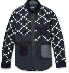 Junya Watanabe Patchwork Printed Cotton Jacket