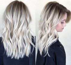 HAIR INSPO | White Ash Blonde Balayage with Shadow Root | For more hair inspiration visit www.dontsweatthestewardess.com