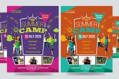 Kids Summer Camp Flyers Vol  Flyer Template