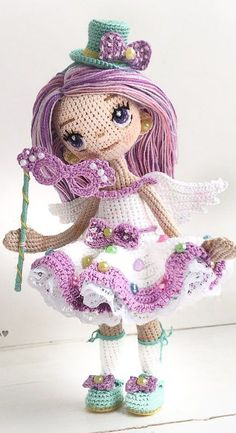 Awesome and Cute Amigurumi Doll Crochet PAttern Ideas – Page 22 of 57 Dear friends. Today I prepared beautiful amigurumi pictures for you. Today I'm with you dolls. Crochet Amigurumi Free Patterns, Crochet Doll Pattern, Doll Tutorial, Knitted Dolls, Cute Crochet, Amigurumi Doll, Crochet Projects, Crochet Ideas, Pattern Ideas