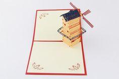 Windmills symbolize change to me, a good little greeting card or desk decoration.