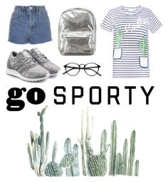 """Kamilla's cactus style"" by szobota-kamilla on Polyvore featuring Topshop, adidas Originals and Pantone"