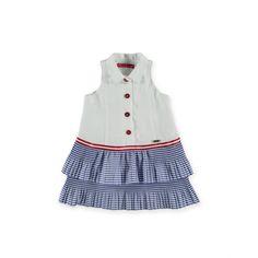 Moda Online, Summer Dresses, Fashion, Linen Dresses, Little Girl Clothing, Feminine Fashion, Collared Dress, Ruffles, Women