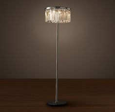 Rhys Clear Glass Prism Floor Lamp