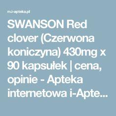SWANSON Red clover (Czerwona koniczyna) x 90 kapsułek Red