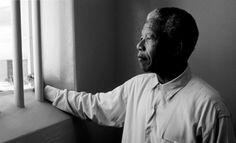 Nelson Mandela in prison, Robben Island, South Africa Citation Nelson Mandela, Nelson Mandela Quotes, Apartheid, William Ernest Henley, Citations Mandela, First Black President, Bukowski, Photojournalism, Black History