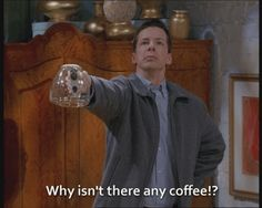 tv coffee will and grace sean hayes jack mcfarland #humor #hilarious #funny #lol #rofl #lmao #memes #cute