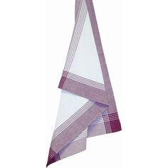 Striped Mcleod Towel, 20 inch x 28 inch, Purple and White, Multicolor
