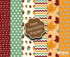 Autumn is well underway with the leaves changing colour there is plenty of seasonal craft inspiration all around.  Be inspired with our free & exclusive autumn themed printable paper designs…