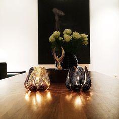 Blossom tealight candle holder - Black and Gold www.beandliv.com #interior #homedecor #design #beandliv Photo by @tipsshopno