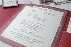 Conrad & Radda Wedding Invitation | Custom Invitations by Printsonalities: Your Personal Invitation Stylist