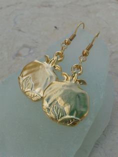 Golden Pomegranate  elegant and attractive earrings by GabiiGlass