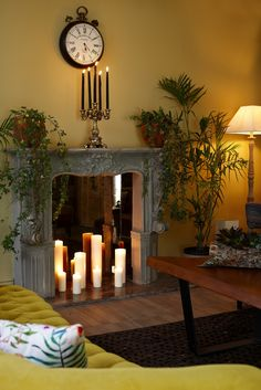 Fire Place in the Lobby... Galen Hotel & Beach, Bodrum / Turkey