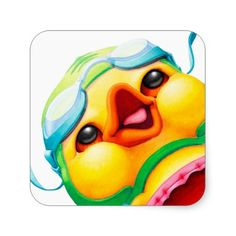 """Stickers! Edgar the Duck is now featured on 3"""" and 1 1/2"""" stickers."""