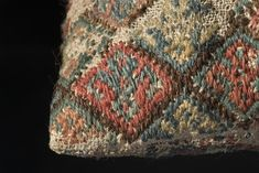 Medieval embroidered cushion from Arentuna church, Sweden