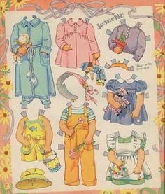 Miss Missy Paper Dolls: Badgett Quadruplets