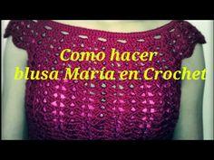 Como hacer blusa en Crochet muy fácil - YouTube