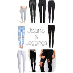 Jeans & leggings by prettyfulpam on Polyvore featuring polyvore, fashion, style, The Row, Monrow, River Island, Liquor n Poker, ASOS, ONLY and H&M