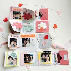 Love Us One Page Mini Album by Angela Tombari for I need confetti