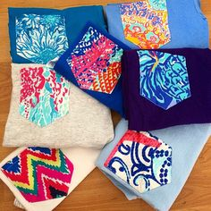Lilly Pulitzer Short Sleeve Pocket Tees by FabricBowsforDays