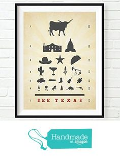 See Texas Eye Chart Art Print, UNFRAMED, longhorn cowboy star taco alamo come and get it wall & home decor poster sign, Birthday - Housewarming - Christmas gift, ALL SIZES from Art for the Masses https://www.amazon.com/dp/B01HVHUW5W/ref=hnd_sw_r_pi_dp_z8YExb7VTW3A5 #handmadeatamazon