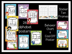 This pack is perfect for your Disney inspired classroom! Containing a complete set of Alphabet posters, as well as a behavior chart, sticker ten frame, and cool off spot your super smarties will be loving the Disney decor!  Disney classroom | Disney Classroom Decor | Disney Alphabet | Alphabet | Alphabet Posters | First Grade | Kindergarten | First Grade | Preschool